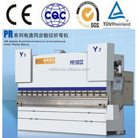 Adira Shearing Press Brakes 4 axis(Y1,Y2,X+V axis) Delem DA-52s CNC Controller 125tons 2.5m Press Brake