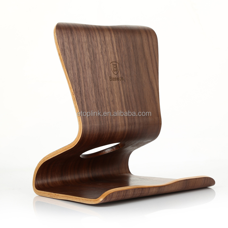 Baseus Pure Walnut Wood Desktop Stand Holder For iPad Air 2 Mini 2 3 4 Universal Tablet PC Stand Holder Purewood Desktop Bracket