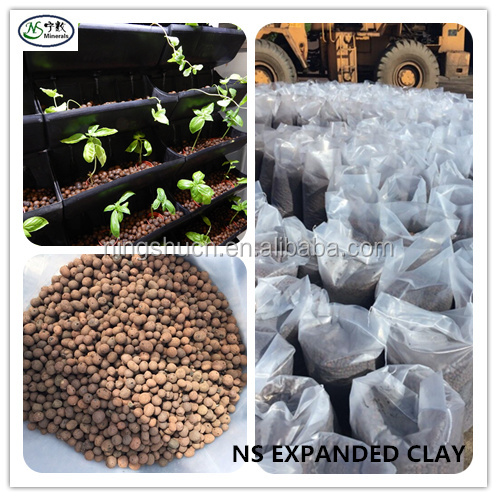 Hydroponics Aquaponic Expanded Clay Pebbles Balls As Grow Media