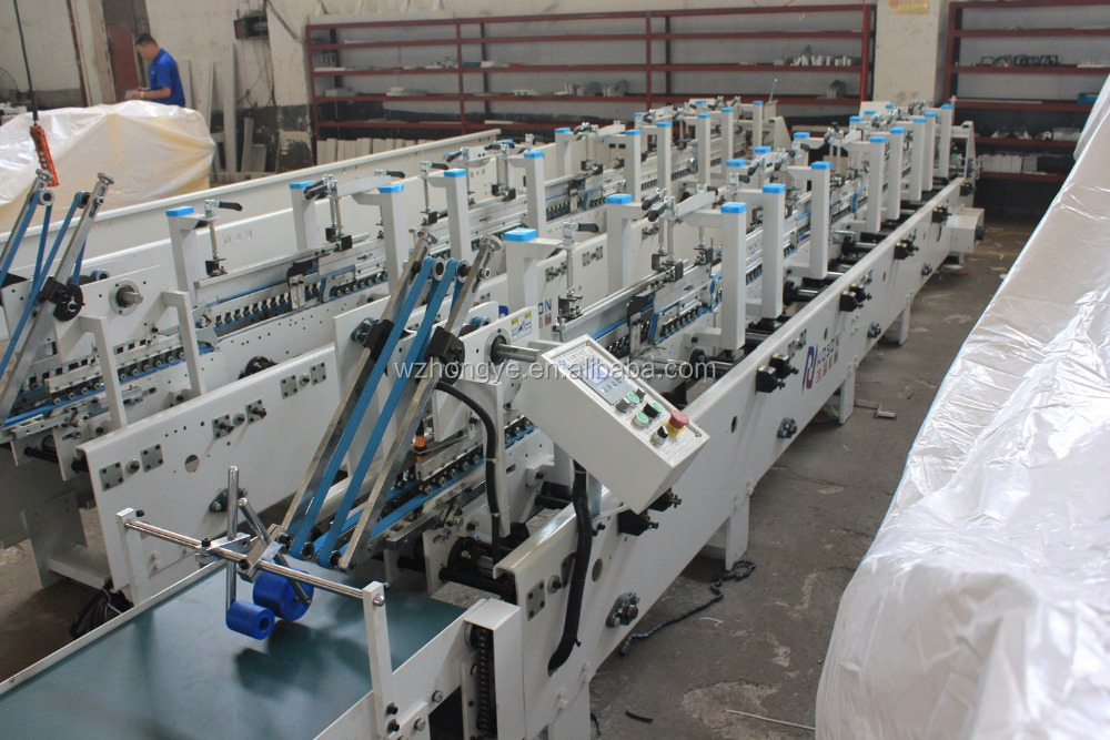 Automatic Box Folding Machine /6 folds for rolling cigarette paper box