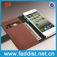 Smart Mobile Phone Case for iphone 5 Wallet Leather Case