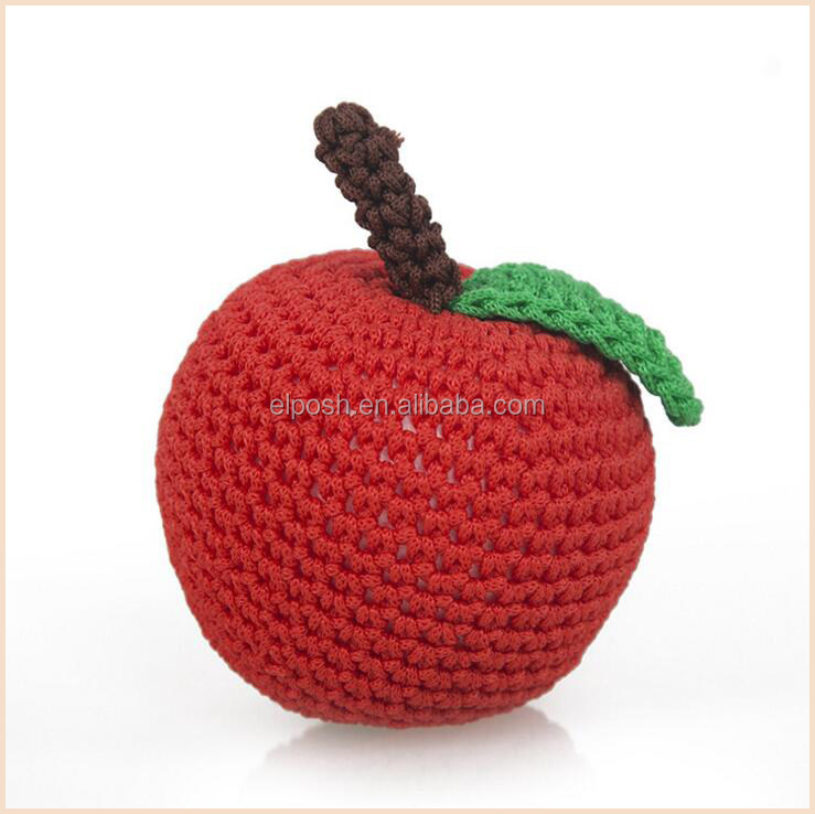 Christmas Play Kitchen Food Kids Fruit Toy Crochet Pattern Apple
