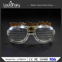 Happy New Year LED Shutter Shades Party Glasses Sunglasses 2014 2015 2016
