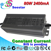 waterproof led driver 80w 2400mA constant current power supply