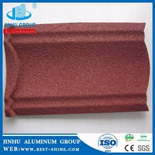 Strip Shape and brown Color Family house stone-coated metal roof tile