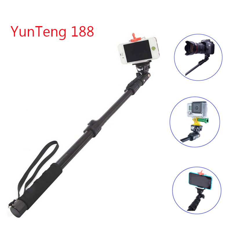yunteng 188 go pro camera monopod yunteng selfie stick monopod with bluetooth. Black Bedroom Furniture Sets. Home Design Ideas