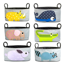 Baby stroller special hanging hanging waterproof canvas cartoon cart bag