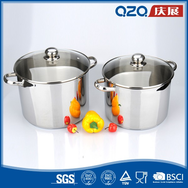 Multi-purpose easy to clean stainless steel decorative cookware set