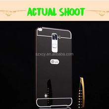 Alibaba China Aluminum Metal Bumper Mirror Plastic Hard Back Cover Case For LG stylus 2