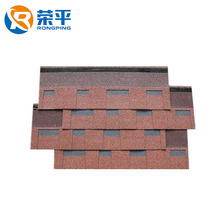 Double layer roofing glue Interlocking red green laminated asphalt roofing shingles