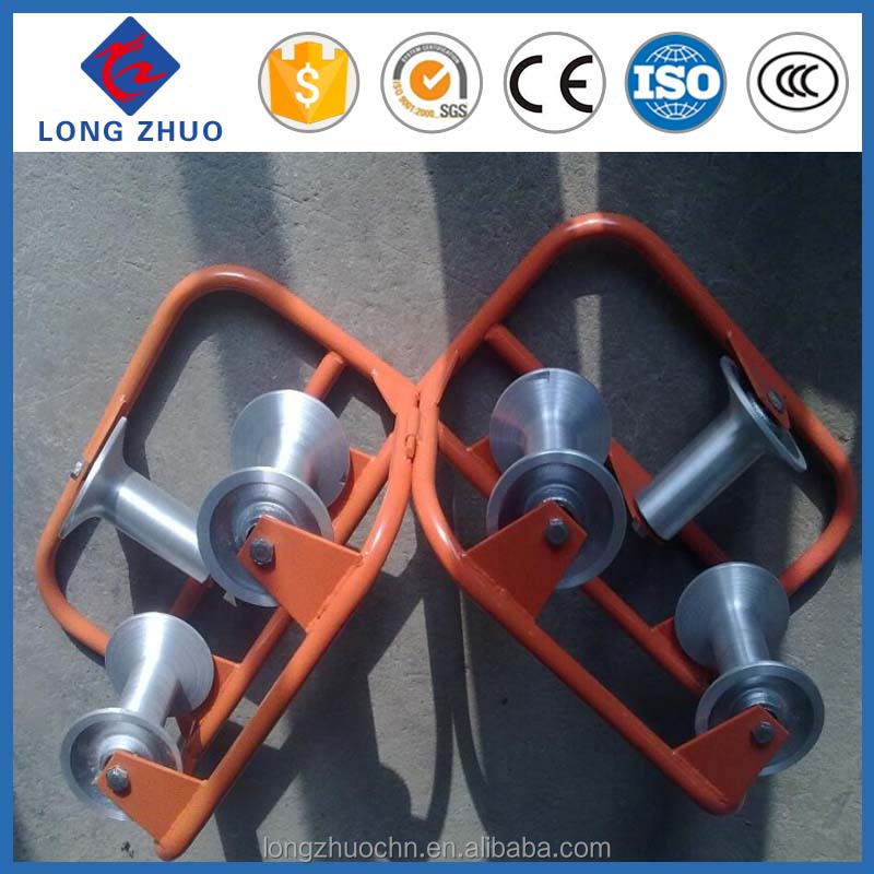Cable pulling equipment straight cable rollers for cable installation pull