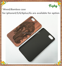 Laser Etching Wooden or Bamboo Phone Case Supplier china