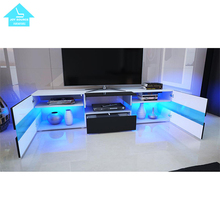LED TV Unit Cabinet Stand Modern High Gloss Living Room <strong>Furniture</strong>