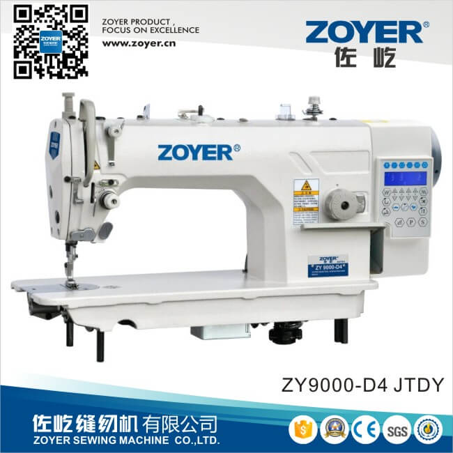 ZY9000D-D4 Zoyer Computer Lockstitch Industrial Sewing Machine with auto trimmer