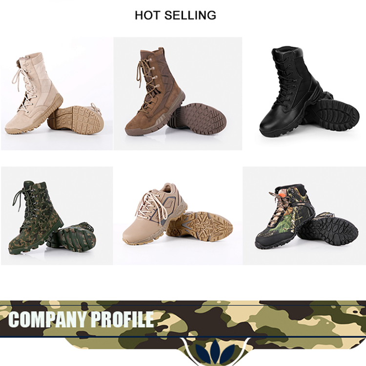 YKK Side Zipper Damp-proof Battle Boots Suede Leather Desert Military Boots For Male