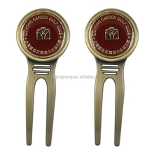 Custom Pitch Divot Tool Metal Alloy Magnetic Golf Fork