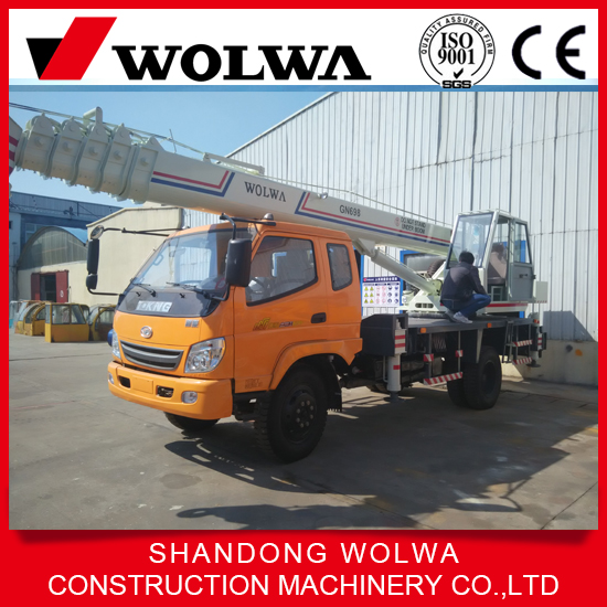 wolwa export 12 ton truck crane to thailand