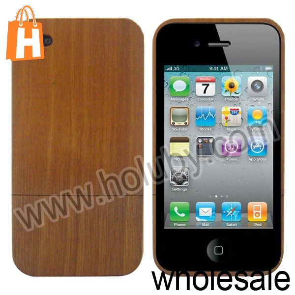 Detachable 2 in 1 Bamboo and Wood Case for iPhone 4s iPhone 4