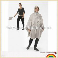 2014 breathable polyester foldable rain poncho