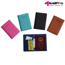 pu leather credit card holder travel document passport cover Embossed Personalized Passport Wallet
