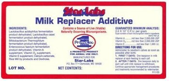 Star Labs Milk Replacer Additive (Case of 12 - 18oz. Jars)