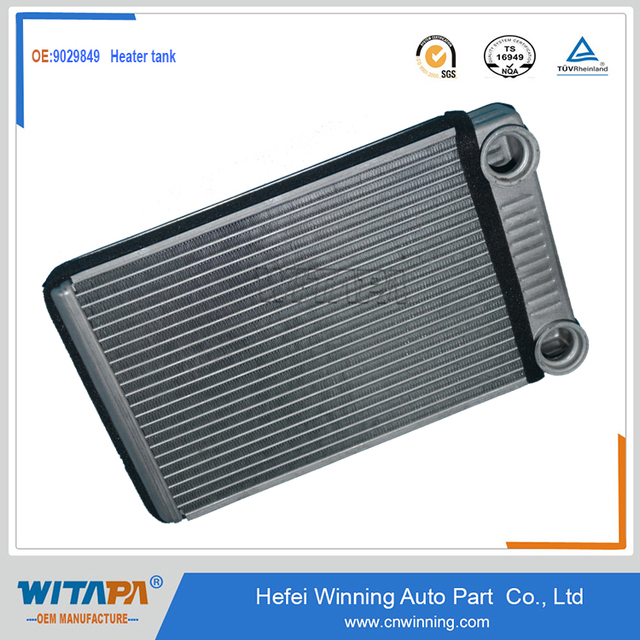original auto spare parts heater radiator 9029849 for chevrolet sail 1.4L car by manufacture