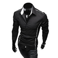 Instyles Men's Stylish Casual Trim Slim Fit Name Brand Dress Shirts 3651 #