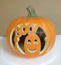 Best Selling Giant LED Halloween Decoration Pumpkin Plastic pumpkin Boo Ghost Pumpkin