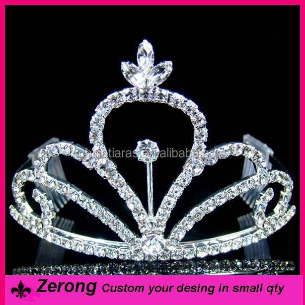 Silver spark hair accessories crystal custom pageant crowns tiara