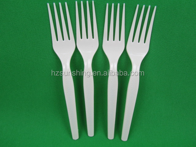 2015 new promational Cute design kids hard ps plastic fork