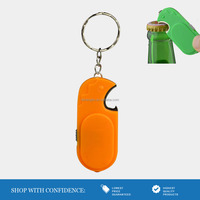 hot promotion gifts keychain with light and opener