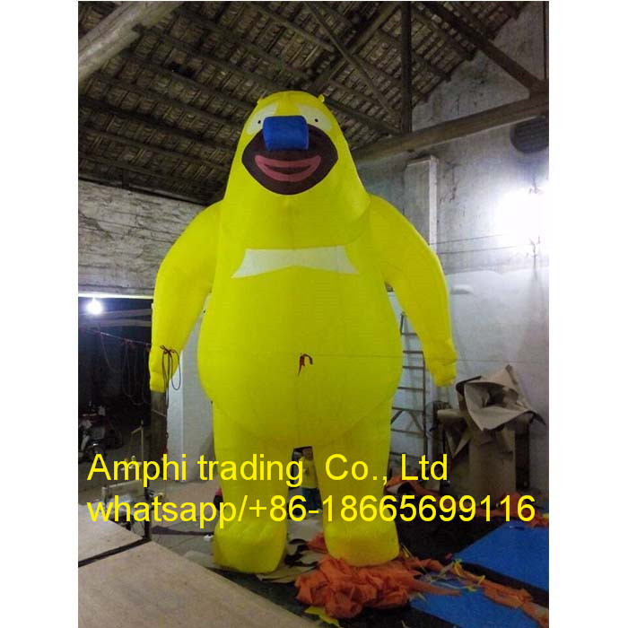 inflatable bear inflatable costume,inflatable moving bear cartoon for sale