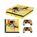 The fast and race vinyl skin sticker for ps4 console with 2 controllers