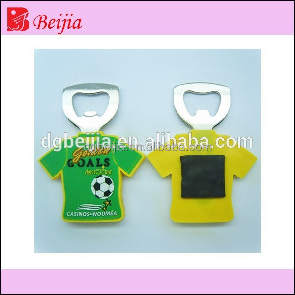 Custom cheap refrigerator plastic rubber beer bottle opener,wholesale promotional car shape rubberized 3d soft pvc fridge magnet