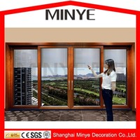safety design aluminum tempered glass door with security locks