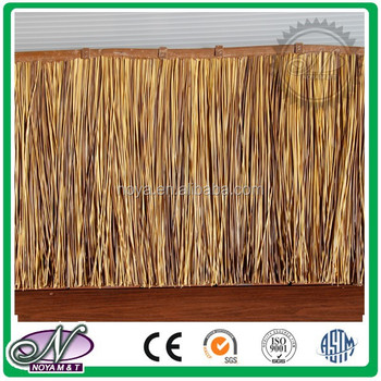 Synthetic fiber braided mat for decoration