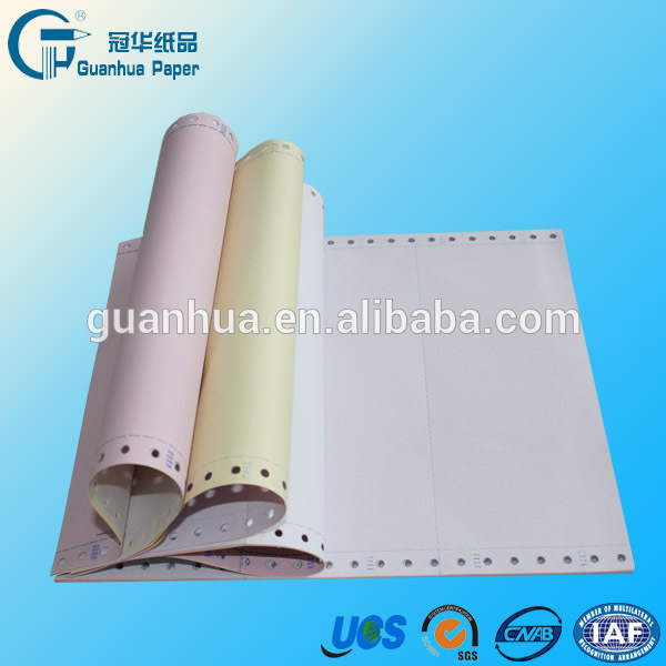 Chinese Supplier hot selling self perforated and printed computer paper