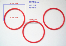 60mm Diameter red color larger toy plastic rings