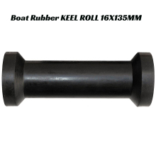 Keel Rubber Spool Roller w/ Plastic Sleeve for Boat Trailers Boat Rubber KEEL ROLL 16X135MM