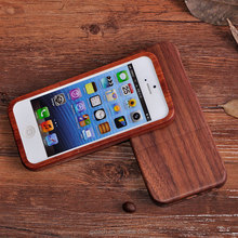 Fashion Stylish Mobile Phone Rose Wood Back Cover Case / Shell for iPhone 5S