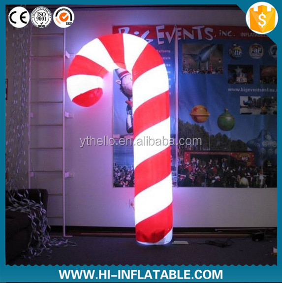 2015 Hot sale inflatable christmas candy cane, inflatable candy for advertising