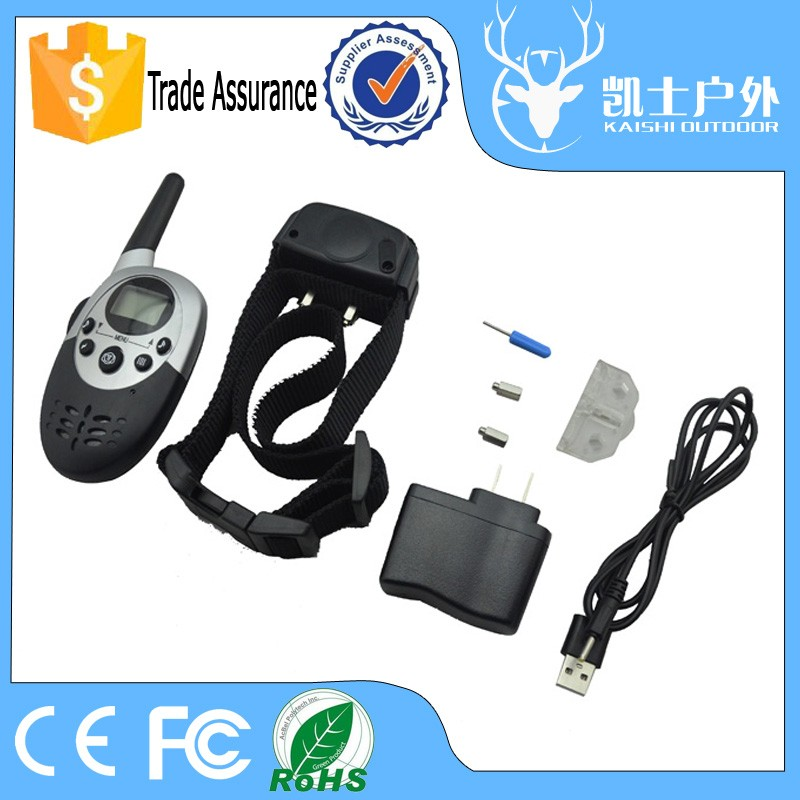 Factory remote control training dog electronic collar, led dog collar with Power saving