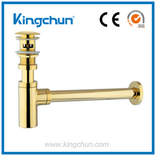 Low Price Gold Bronze Chrome Planted Bathroom bottle Trap Drain Made in China Factory