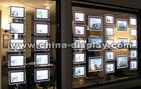 LED back lit wall Acrylic Display ,Acrylic hanging light box ,LED light window Display