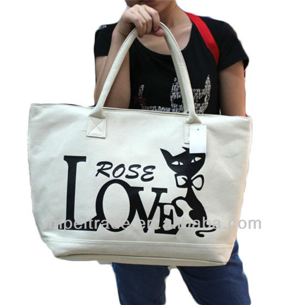 2013New Designed Colorful Fashionable Canvas handbag ,reusable handbag