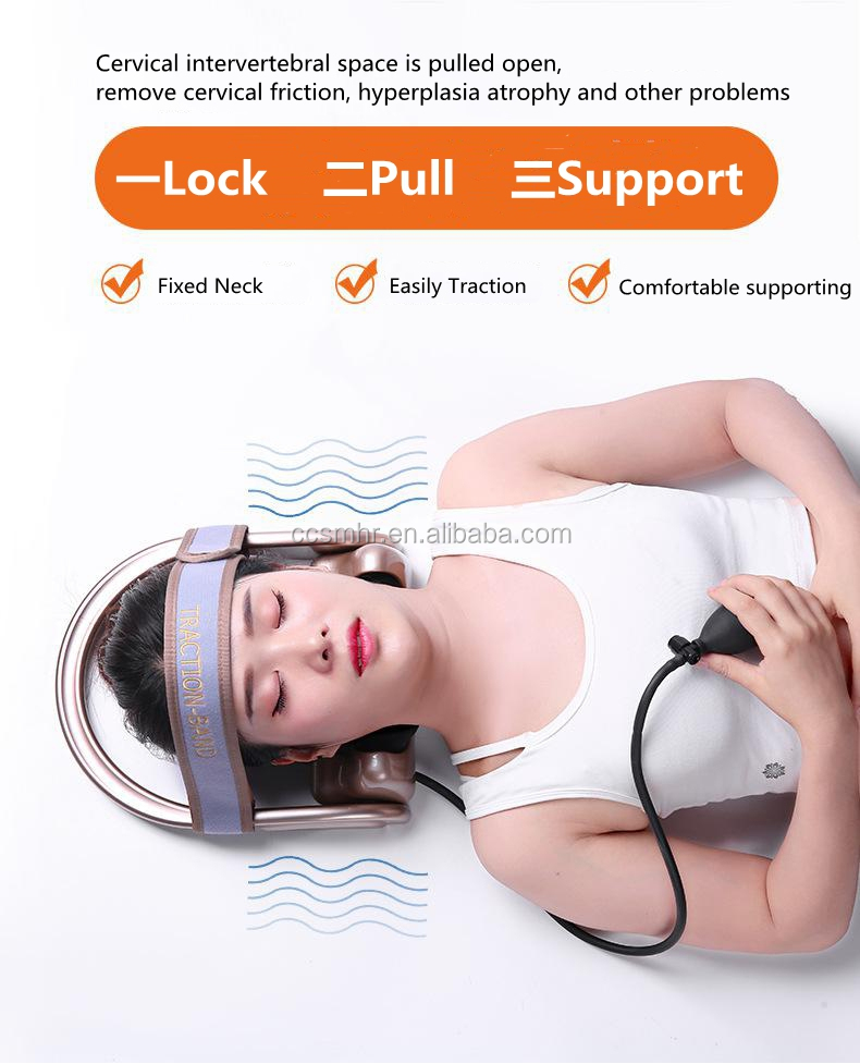 Traction-band neck cervical traction therapy machine for Spondylopathy composite syndrome treatment