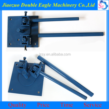 Factory direct sale cheap price manual steel bar bending machine/small press brake maker
