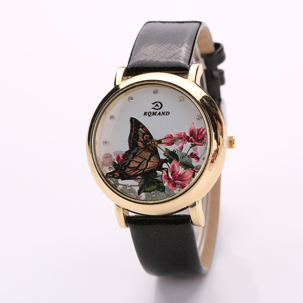 Brand Popular Women Fashion Dress Watch Ladies Casual Leather Strap Quartz Wristwatches Time Hours Watch Manufactuer