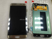 Gold Grade AAA LCD Digitizer Assembly Screen Touch Display without frame for samsung galaxy s7 edge phone lcd