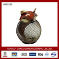Metal Animal Ornament Fox Table Money Box
